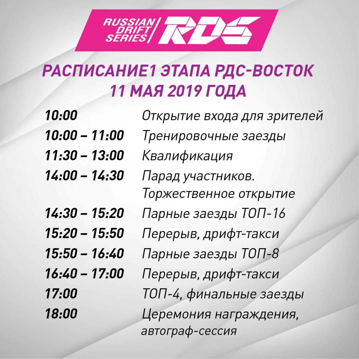 Дрифт для всех: юбилейный сезон РДС-Восток стартует в Приморье сегодня