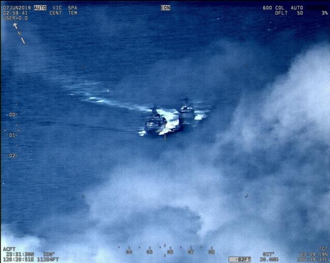Американцы опубликовали видео опасного сближения кораблей России и США в Тихом океане