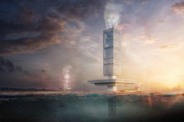 В океане решили строить небоскреб, который будет перерабатывать мусор