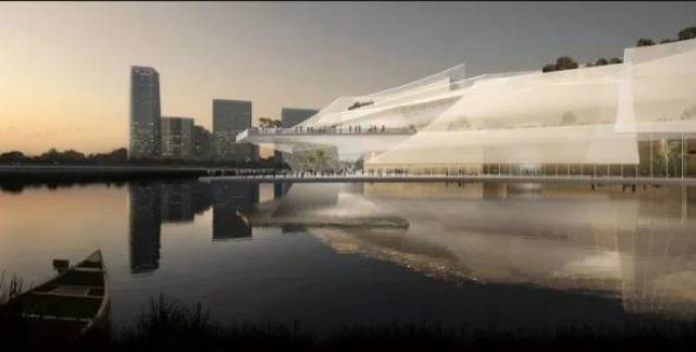 В Китае построят театр на воде в виде корабля